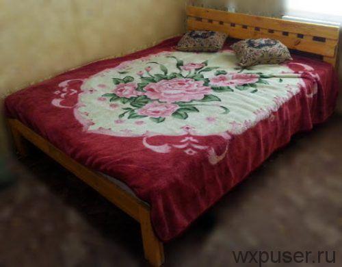 ощее фото готовой кровати из досок
