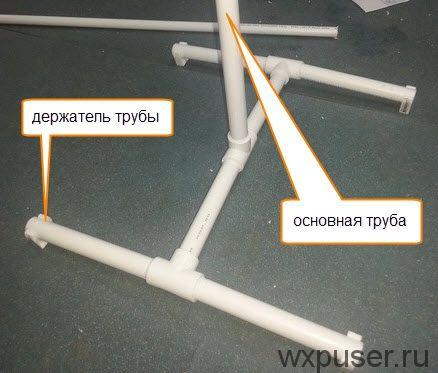 Из пластиковых труб своими руками пошаговая инструкция