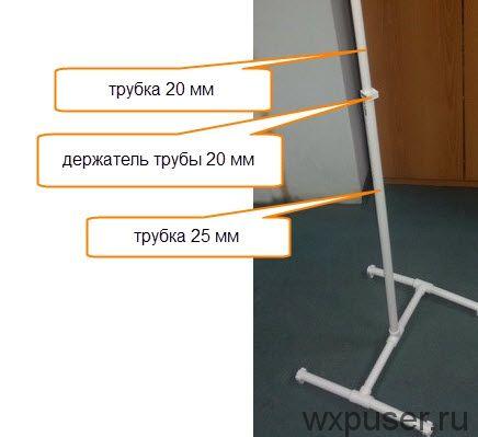 Штатив для оптического уровня из полипропиленовых труб своими руками