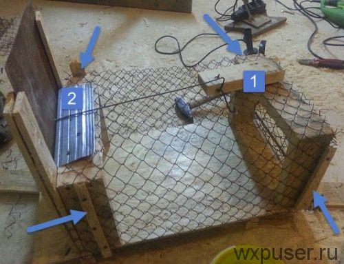 крепление сетки на крысоловке