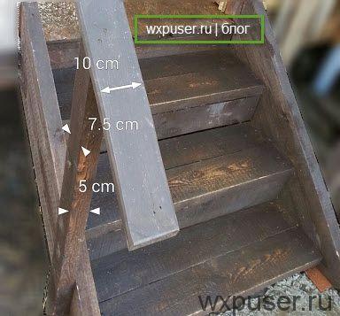 размеры перил лестницы из досок