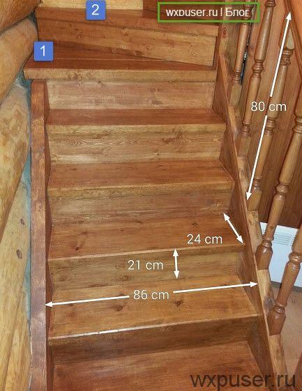 лестница в дом на второй этаж размеры