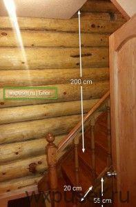 высота лестницы от пола