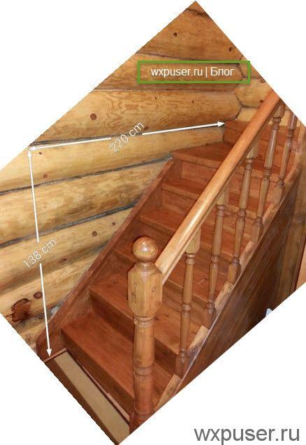 длинна лестницы в доме