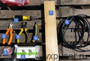 инструменты и материалы для изготовления электроудлинителя