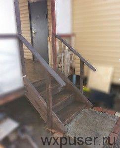 лестница на веранду из досок своими руками