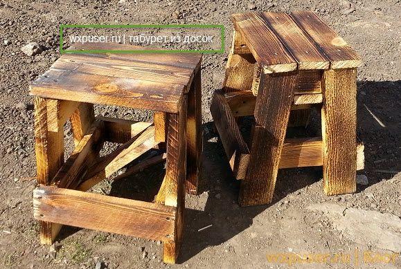 Как сделать стол из стула и досок 651