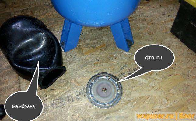 Инструкция по замене мембраны в гидроаккумуляторе