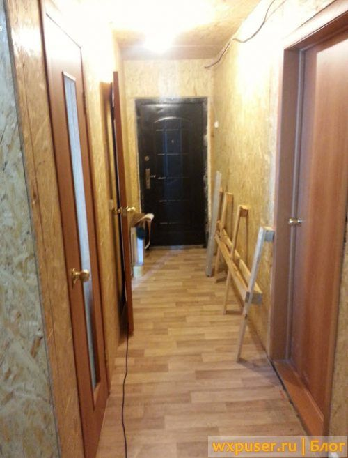 коридор в каркасном доме