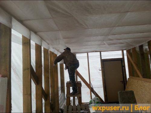 пароизоляция потолка в каркасном доме