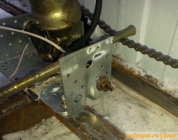 Мотор для раздвижных ворот своими руками 77