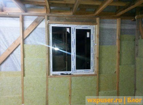 утепление стен каркасного дома