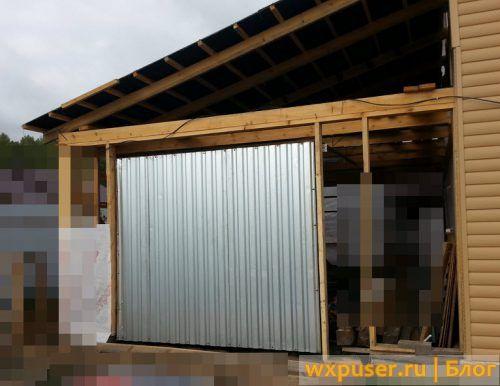 ворота в гараж подъемные фото