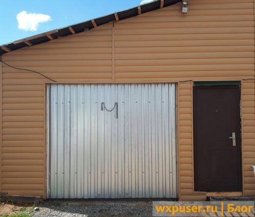 Подъемные ворота в гараж своими руками