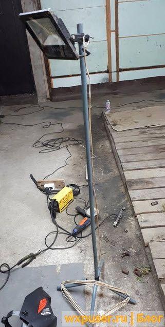 Стойка для света в гараж своими руками (штатив)
